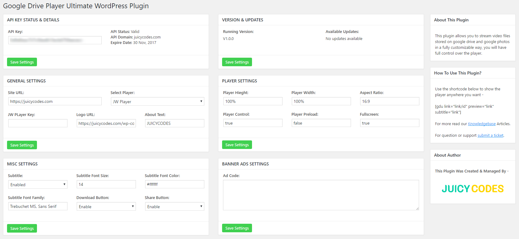 jw player license key free for wordpress plugin